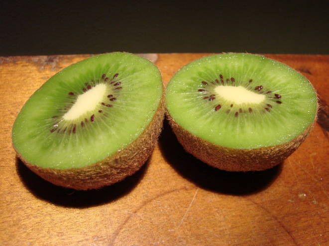 'Hayward' kiwifruit, the first of what will hopefully be plenty