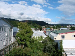 View across the garden to Signal hill.