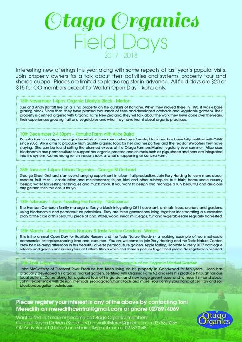 10182 - Otago Organics - Associate Programme